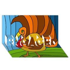 Thanksgiving Turkey  Engaged 3d Greeting Card (8x4) by Valentinaart