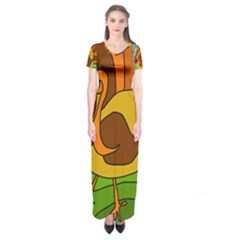 Thanksgiving turkey  Short Sleeve Maxi Dress by Valentinaart