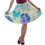 Seashells A-line Skater Skirt