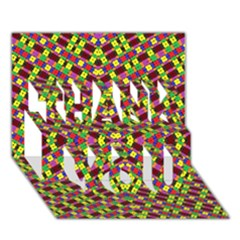 Planet Light Thank You 3d Greeting Card (7x5) by MRTACPANS