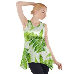 Fern Leaves Side Drop Tank Tunic by DanaeStudio