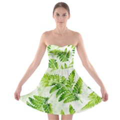 Fern Leaves Strapless Bra Top Dress by DanaeStudio