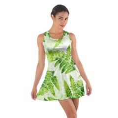 Fern Leaves Cotton Racerback Dress by DanaeStudio