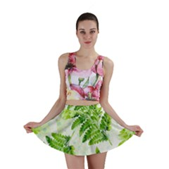 Fern Leaves Mini Skirt by DanaeStudio