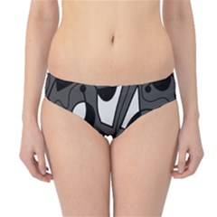 Playful abstract art - gray Hipster Bikini Bottoms