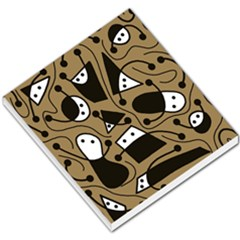 Playful Abstract Art   Brown Small Memo Pads by Valentinaart
