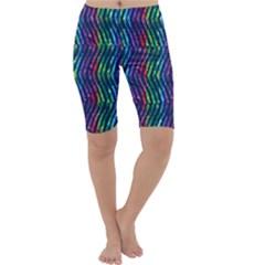 Colorful Lines Cropped Leggings  by DanaeStudio