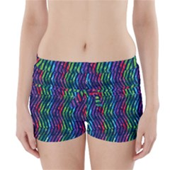 Colorful Lines Boyleg Bikini Wrap Bottoms by DanaeStudio