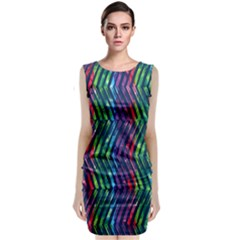 Colorful Lines Classic Sleeveless Midi Dress by DanaeStudio