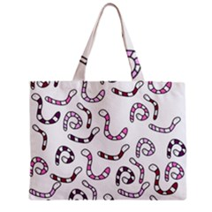 Purple Worms Zipper Mini Tote Bag by Valentinaart