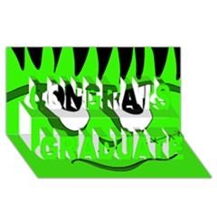 Halloween Frankenstein   Green Congrats Graduate 3d Greeting Card (8x4) by Valentinaart