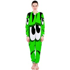 Halloween Frankenstein - Green OnePiece Jumpsuit (Ladies)  by Valentinaart