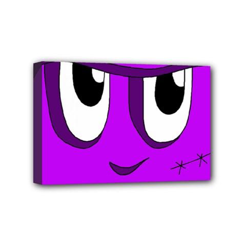 Halloween   Purple Frankenstein Mini Canvas 6  X 4  by Valentinaart