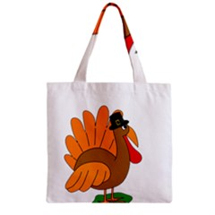 Thanksgiving Turkey   Transparent Zipper Grocery Tote Bag by Valentinaart
