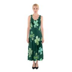 Lucky Shamrocks Sleeveless Maxi Dress by BubbSnugg