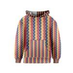 Colorful Chevron Retro Pattern Kids  Pullover Hoodie