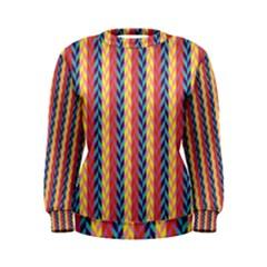 Colorful Chevron Retro Pattern Women s Sweatshirt by DanaeStudio