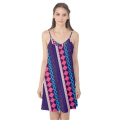 Purple And Pink Retro Geometric Pattern Camis Nightgown  by DanaeStudio