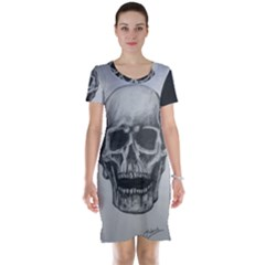 Skull Short Sleeve Nightdress by ArtByThree