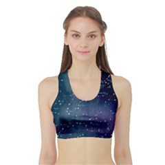 Constellations Sports Bra With Border by DanaeStudio