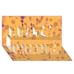 Orange Decor Best Wish 3d Greeting Card (8x4) by Valentinaart