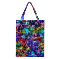 Blue Floral Abstract Classic Tote Bag by KirstenStar