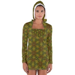Camo Abstract Shell Pattern Women s Long Sleeve Hooded T Shirt by TanyaDraws