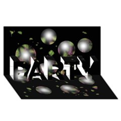 Silver Balls Party 3d Greeting Card (8x4) by Valentinaart