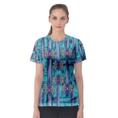 Lace And Fantasy Florals Shimmering Women s Sport Mesh Tee by pepitasart