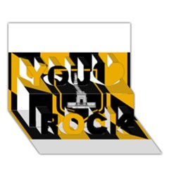 Flag Of Baltimore  You Rock 3d Greeting Card (7x5) by abbeyz71