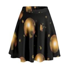 Golden balls High Waist Skirt by Valentinaart
