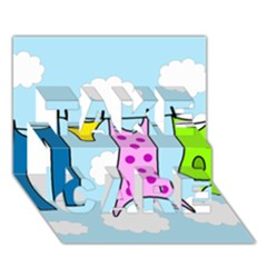 Laundry Take Care 3d Greeting Card (7x5) by Valentinaart