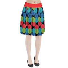 Vibrant Retro Pattern Pleated Skirt by DanaeStudio