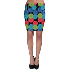 Vibrant Retro Pattern Bodycon Skirt by DanaeStudio