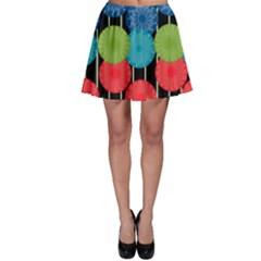 Vibrant Retro Pattern Skater Skirt by DanaeStudio