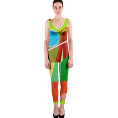 Colorful abstraction OnePiece Catsuit by Valentinaart