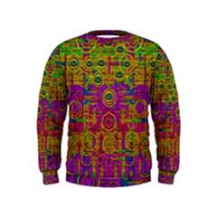 Carpe Diem In Rainbows Kids  Sweatshirt by pepitasart