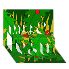 In The Jungle Miss You 3d Greeting Card (7x5)