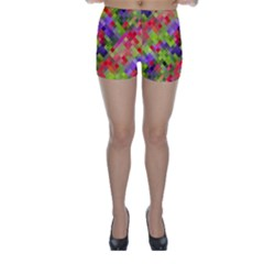 Colorful Mosaic Skinny Shorts by DanaeStudio