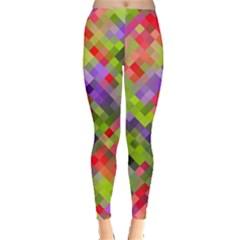 Colorful Mosaic Leggings  by DanaeStudio
