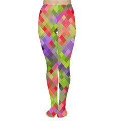 Colorful Mosaic Tights by DanaeStudio