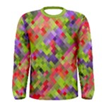 Colorful Mosaic Men s Long Sleeve Tee