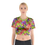 Colorful Mosaic Cotton Crop Top