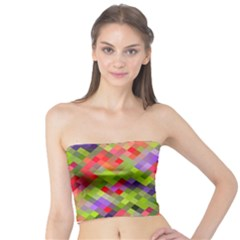 Colorful Mosaic Tube Top by DanaeStudio