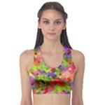 Colorful Mosaic Sports Bra