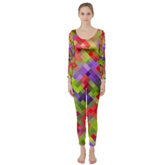 Colorful Mosaic Long Sleeve Catsuit by DanaeStudio