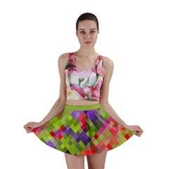 Colorful Mosaic Mini Skirt by DanaeStudio