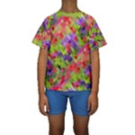 Colorful Mosaic Kid s Short Sleeve Swimwear