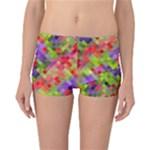 Colorful Mosaic Reversible Boyleg Bikini Bottoms