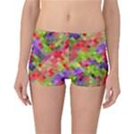 Colorful Mosaic Boyleg Bikini Bottoms